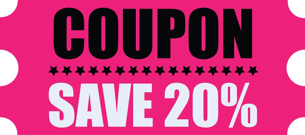 100 Coupons to knock 20% off any plan