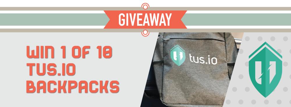 Giving away ten tus.io backpacks!