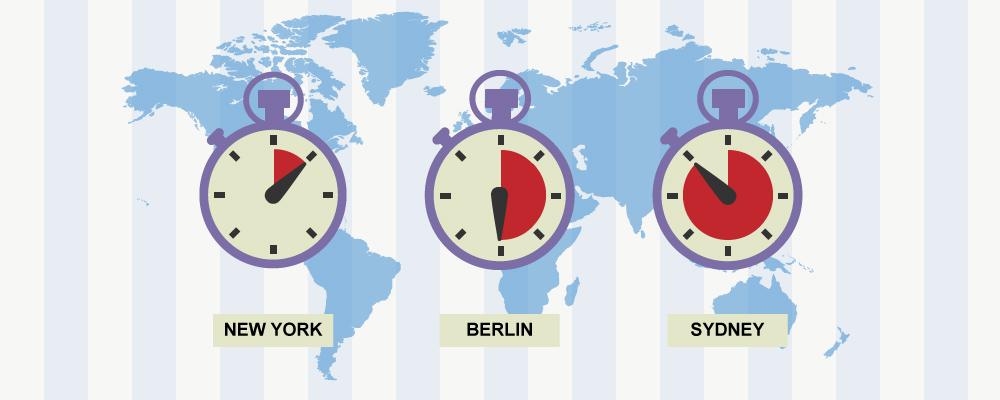 Every Time Zone - Calculate time zones without warping your brain