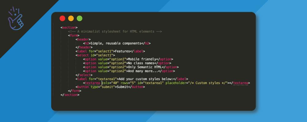 MVP: A minimalist stylesheet for HTML elements