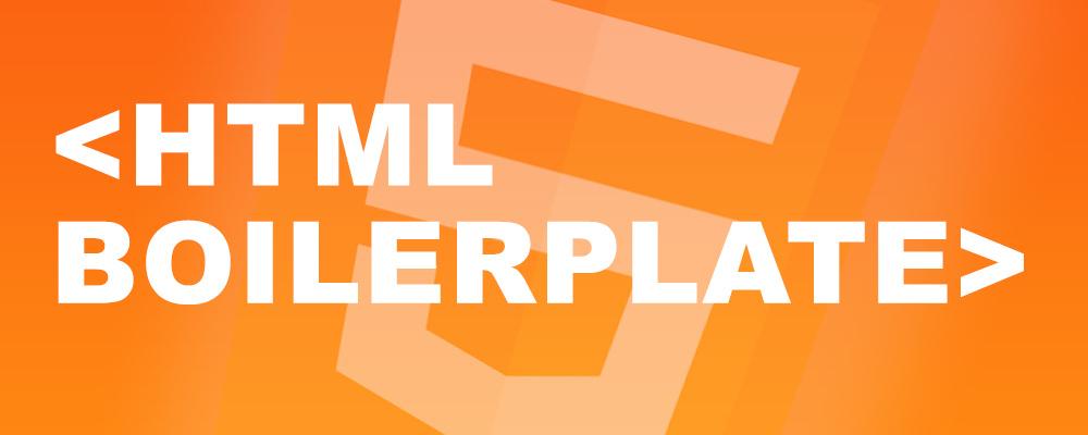 My current HTML boilerplate