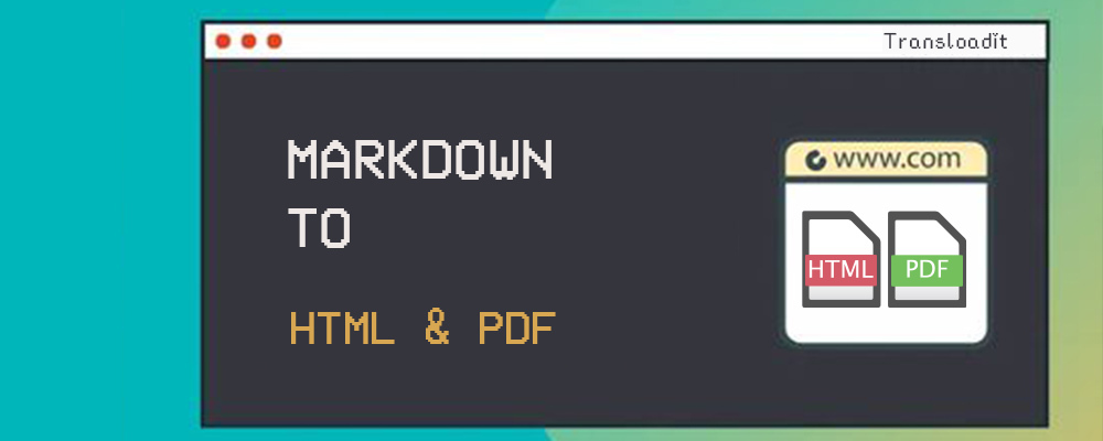 Convert Markdown to HTML and PDF